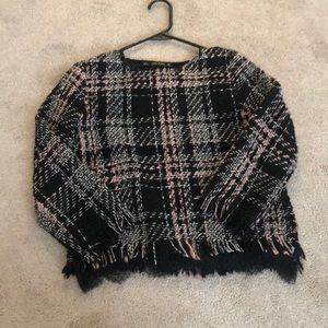 Zara Tweed Top Small